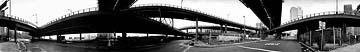 East River Drive with Brooklyn Bridge, 1980 15.5 X 112 Silver print; 16 Cirkut camera