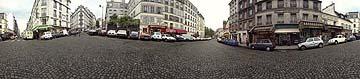 Montmartre - Street with Paving Stones, 8 1/4 X 38, C-Print